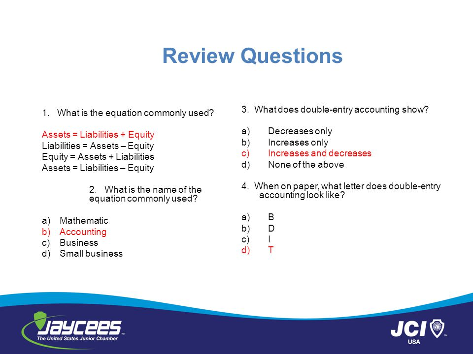 Review Questions 1.What is the equation commonly used.