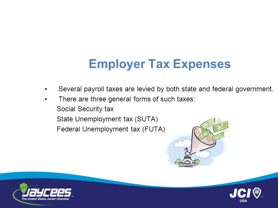 Employer Tax Expenses Several payroll taxes are levied by both state and federal government.