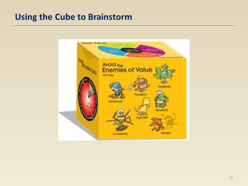 Using the Cube to Brainstorm 26