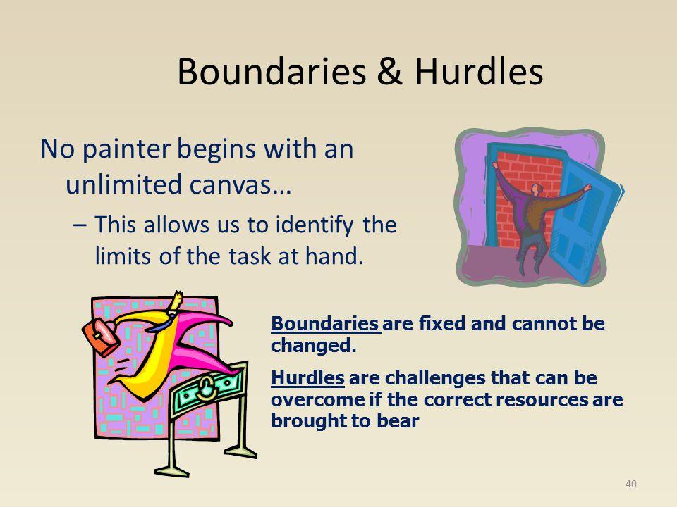 BoundariesHurdles 41