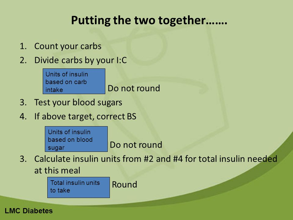 LMC Diabetes Putting the two together…….