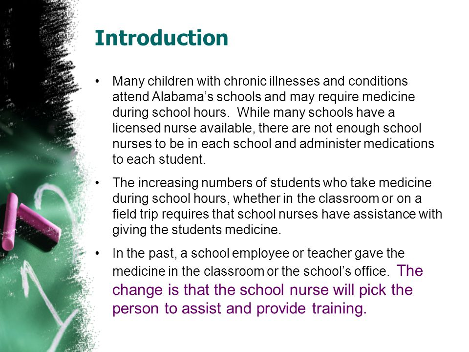 Parent/guardian authorization The parent/guardian must sign the consent form at the beginning of the school year and/or before any medication is given at school authorizing school personnel to assist students with medication.