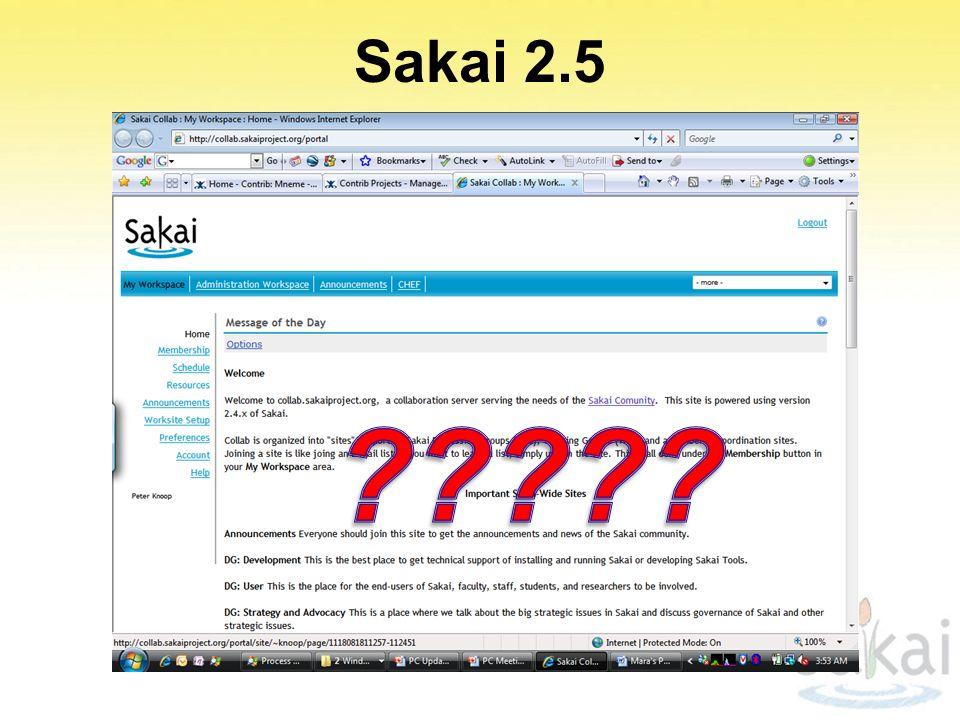 Sakai 2.5