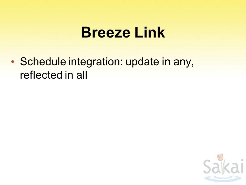 Breeze Link Schedule integration: update in any, reflected in all