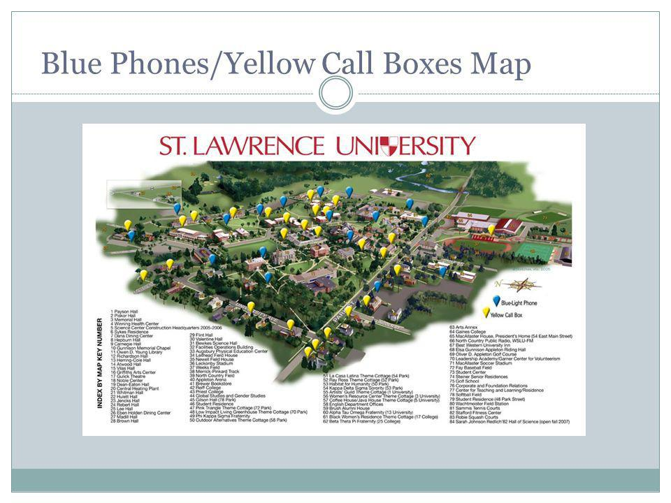 Blue Phones/Yellow Call Boxes Map