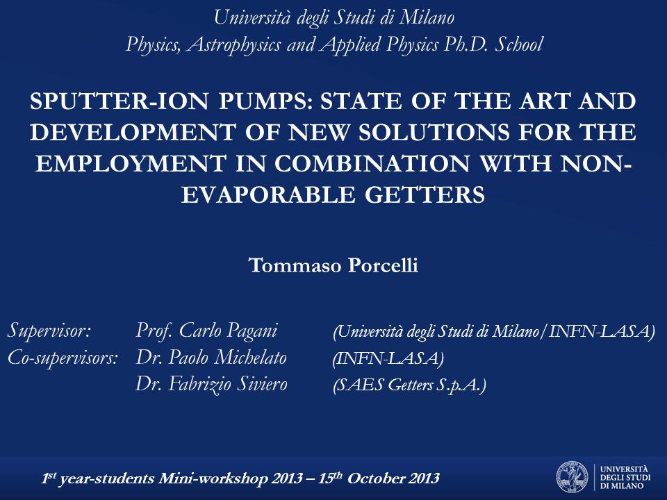 Supervisor: Prof. Carlo Pagani (Università degli Studi di Milano/INFN-LASA) Co-supervisors: Dr.