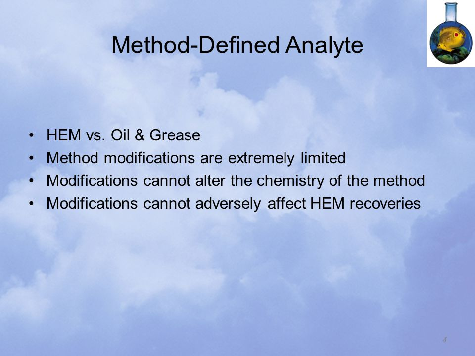 Method-Defined Analyte HEM vs.