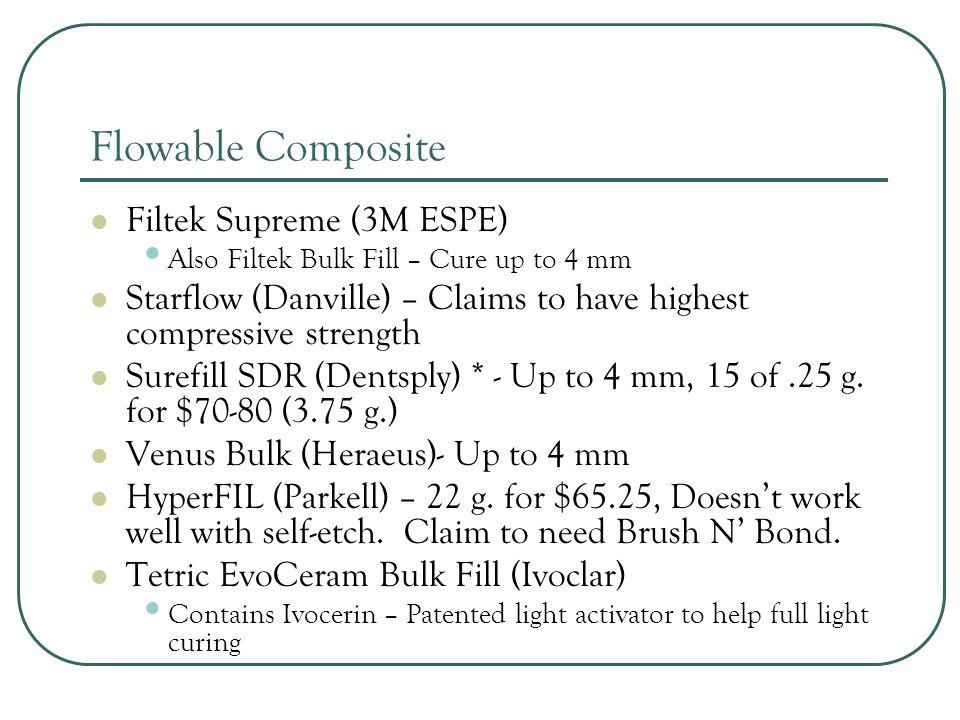 Core Build-Up Materials Clearfil Photocore (Kuraray) – light-cure CorePaste (DenMat) - self-cure Build-It FR (Pentron Clinical) – dual-cure Luxacore Dual (DMG America) – dual-cure FluoroCore 2+ (Dentsply) – dual-cure