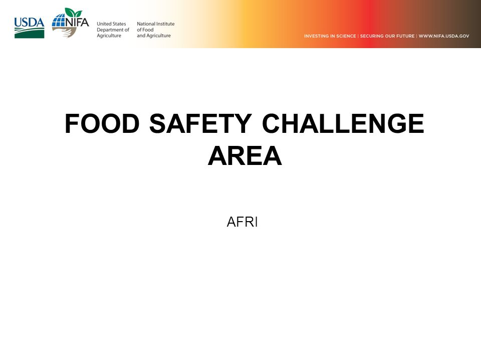 FOOD SAFETY CHALLENGE AREA AFRI
