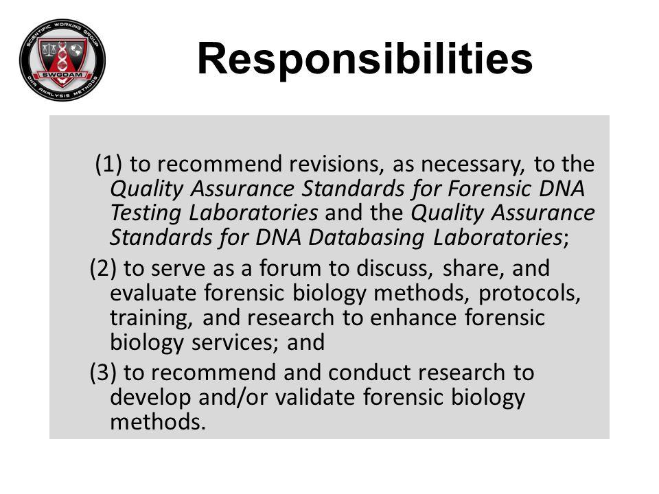 Rapid DNA Committee Positive Controls.