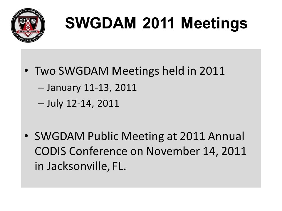 Held in the Spotsylvania Conference Center on July 12 – 14, 2011.