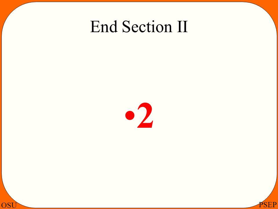 OSU PSEP End Section II 2