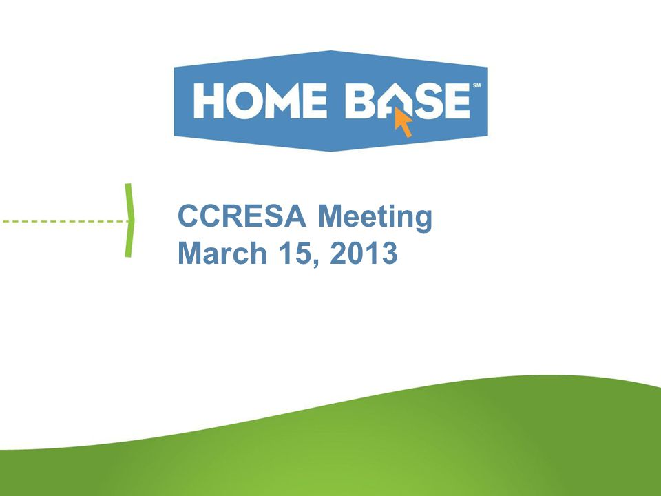 CCRESA Meeting March 15, 2013