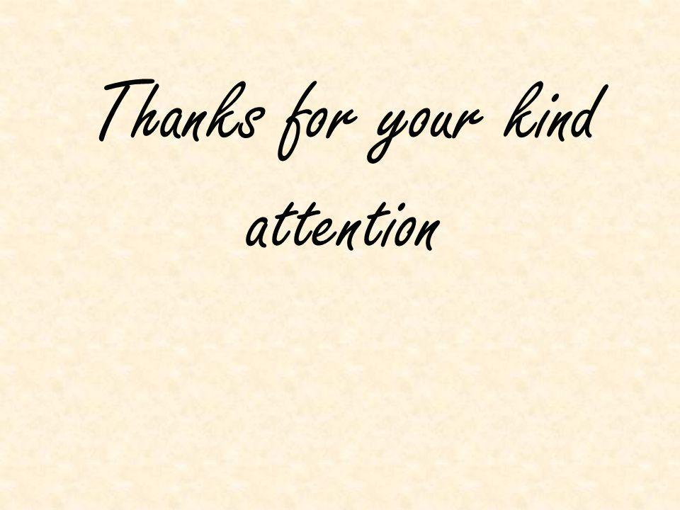 Thanks for your kind attention
