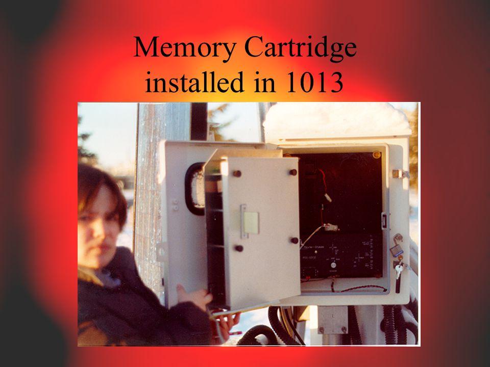 Memory Cartridge installed in 1013