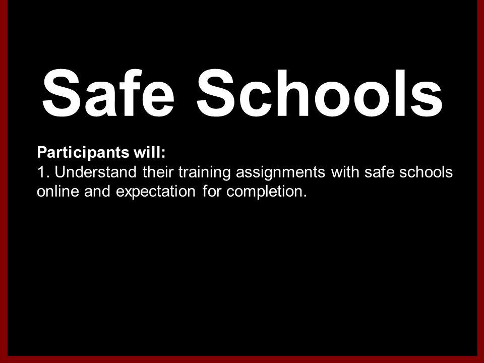 Safe Schools Online 1).