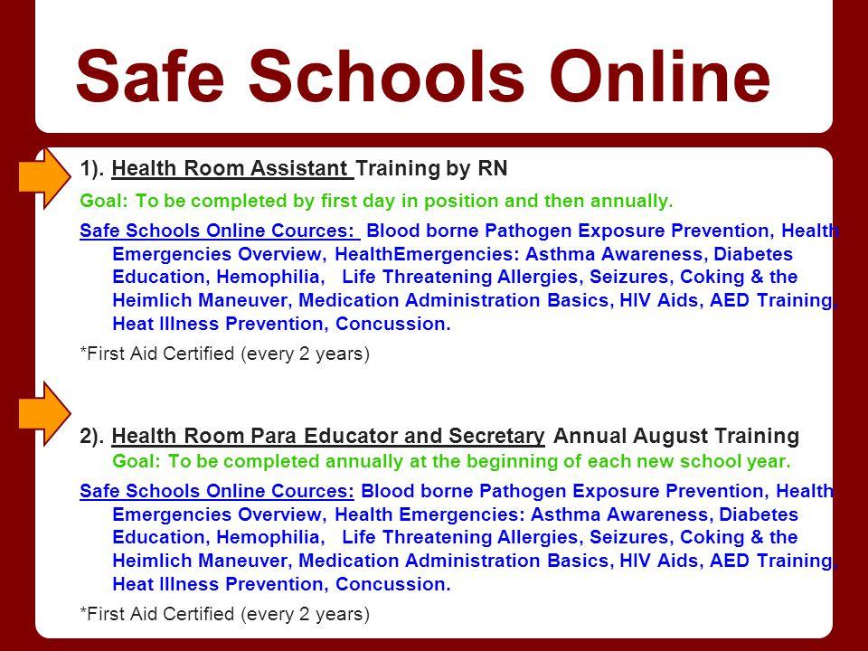 Safe Schools Online 3).