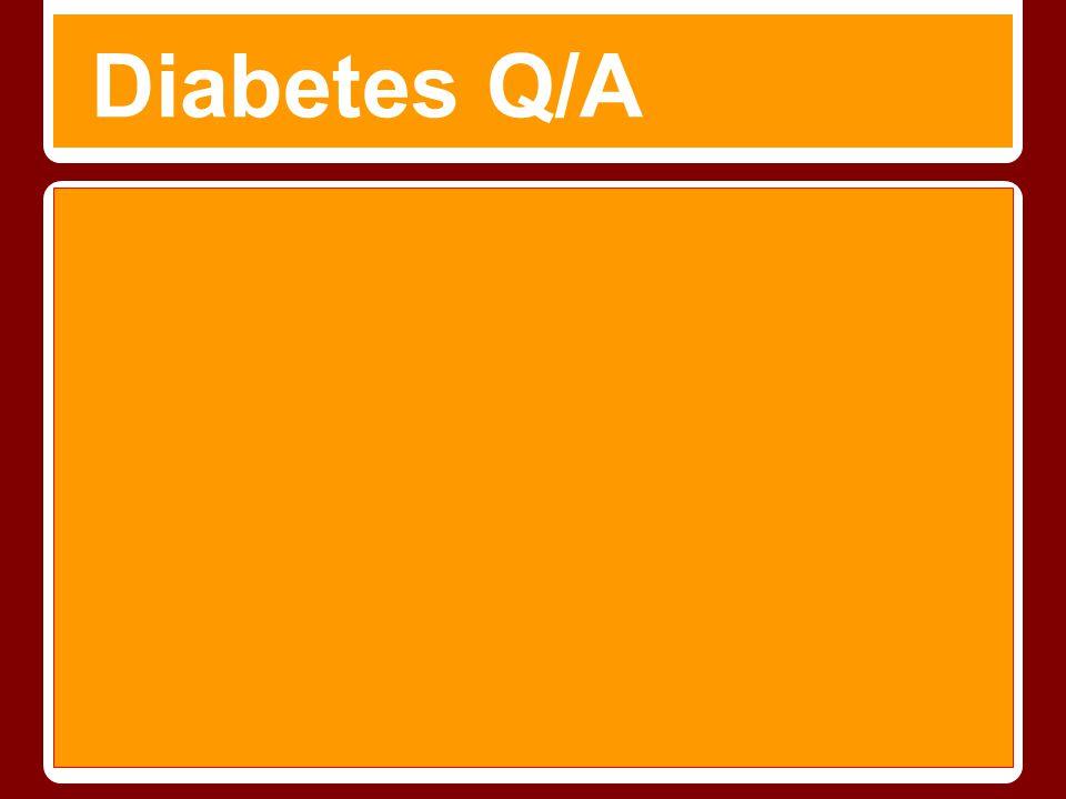 Diabetes Q/A