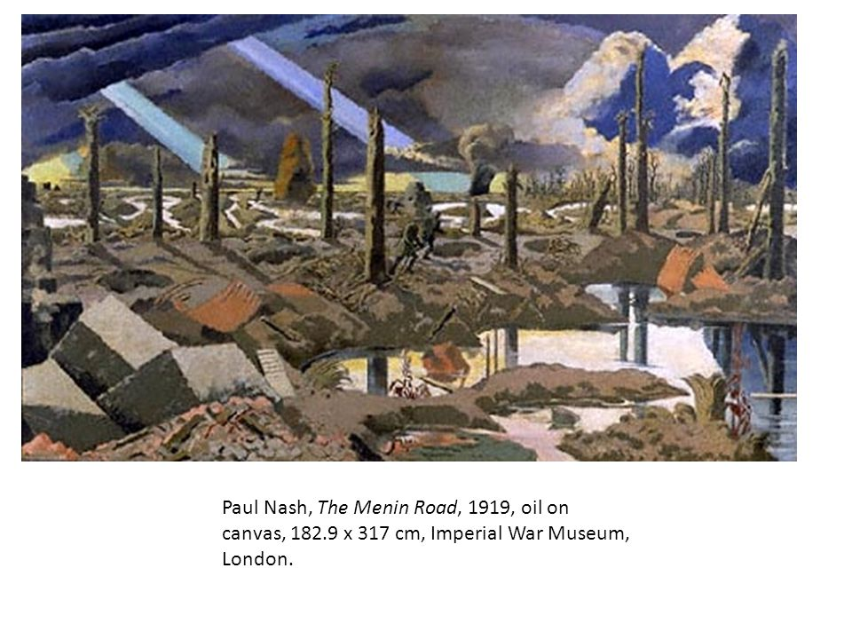 Paul Nash, The Menin Road, 1919, oil on canvas, 182.9 x 317 cm, Imperial War Museum, London.