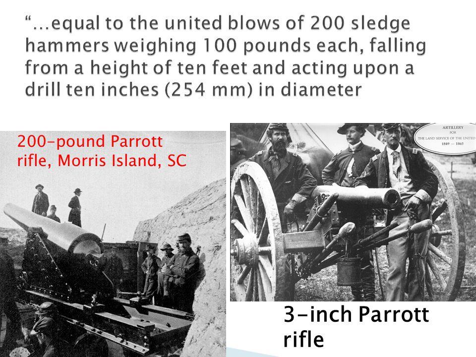 200-pound Parrott rifle, Morris Island, SC 3-inch Parrott rifle