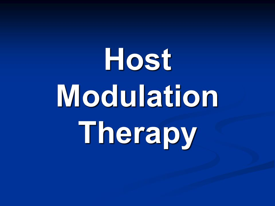 Host Modulation Therapy