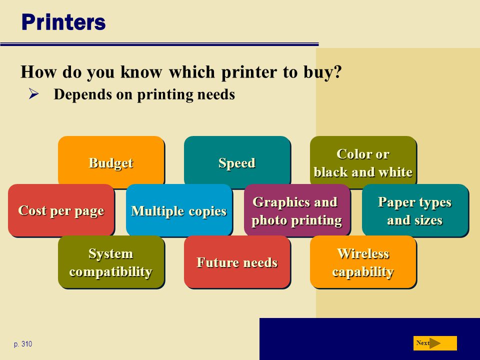 SpeedSpeed Printers How do you know which printer to buy.