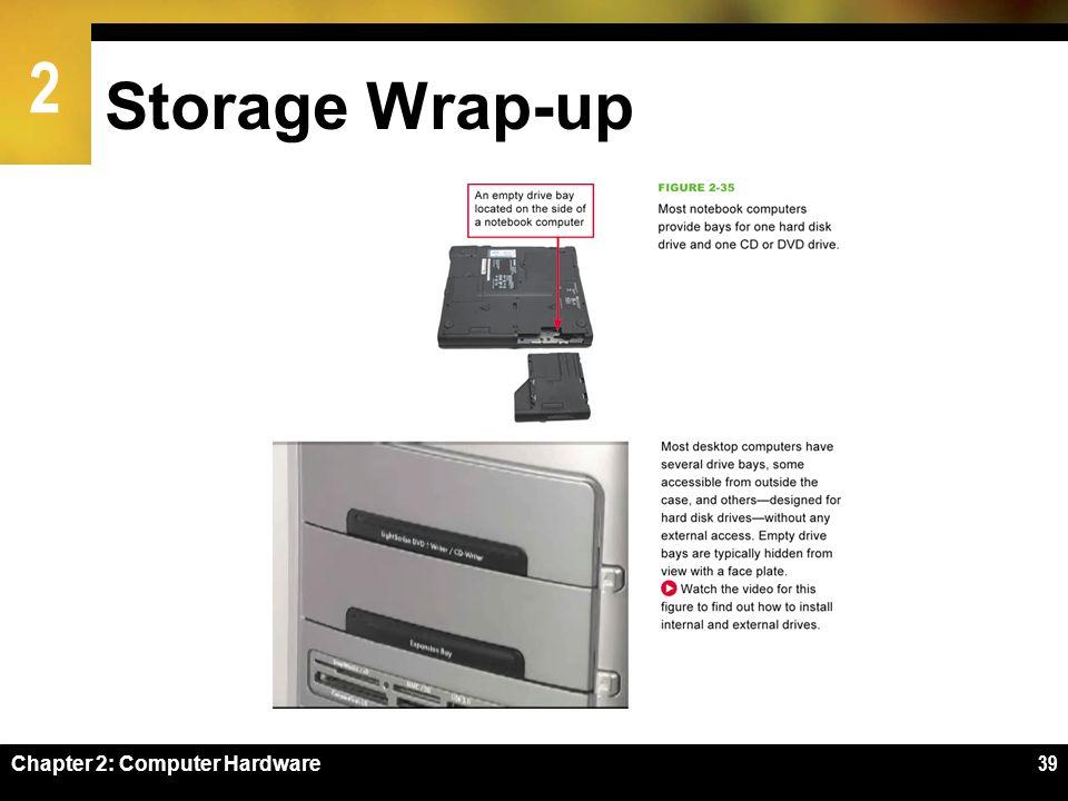 2 Storage Wrap-up Chapter 2: Computer Hardware39