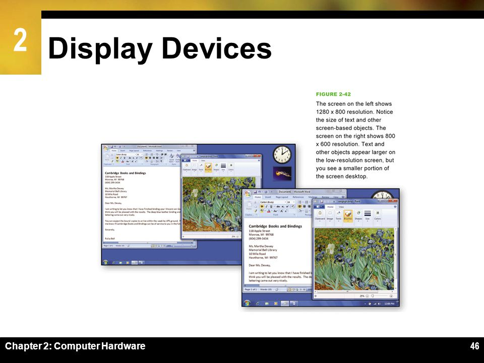 2 Display Devices Chapter 2: Computer Hardware46