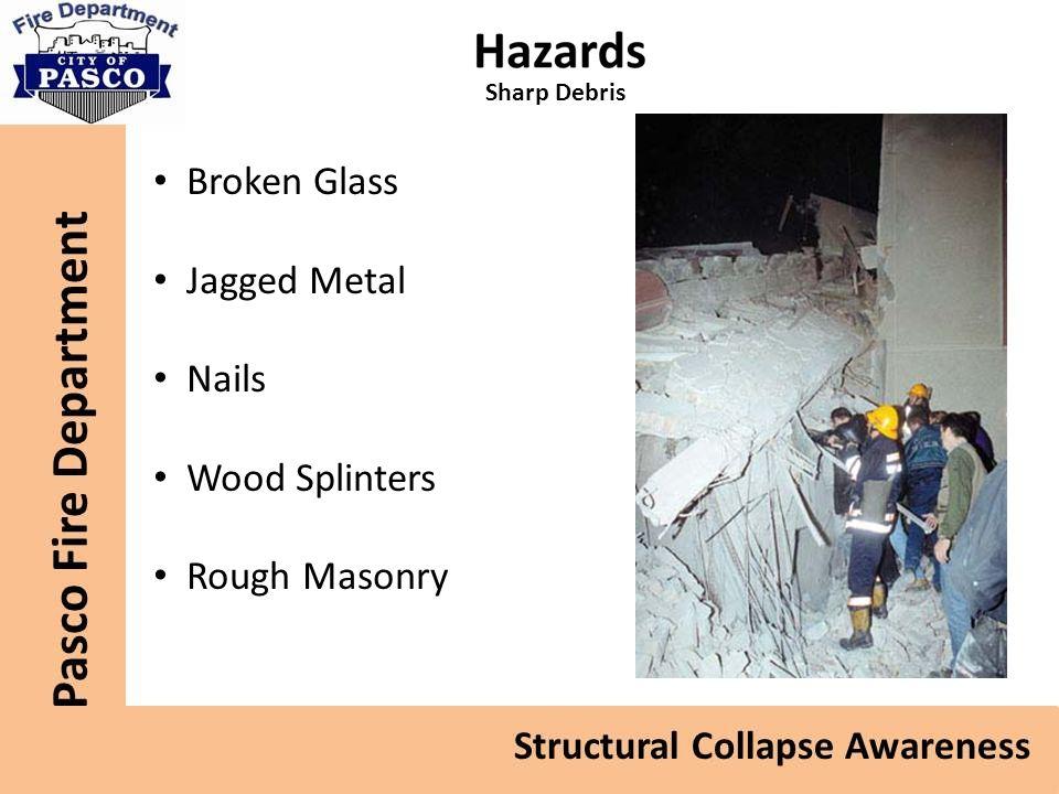 Sharp Debris Broken Glass Jagged Metal Nails Wood Splinters Rough Masonry