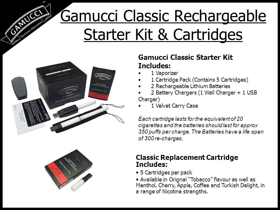Gamucci Premier Disposable Electronic Cigar Gamucci Premier The Gamucci Premier was the world s FIRST Disposable Electronic Cigar.
