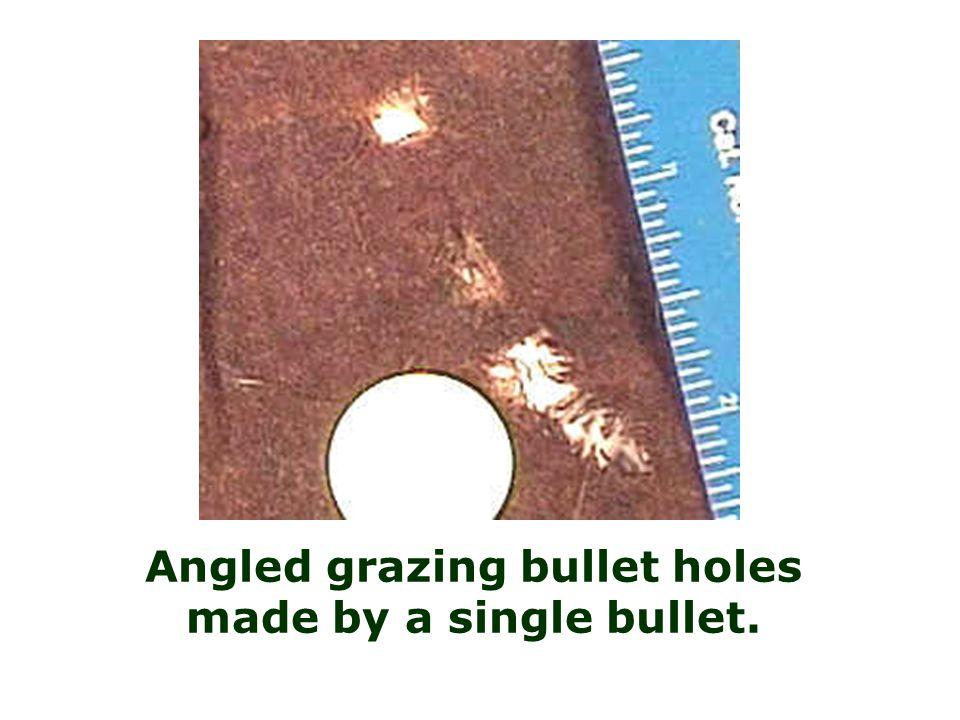 Bullet hole (angled)
