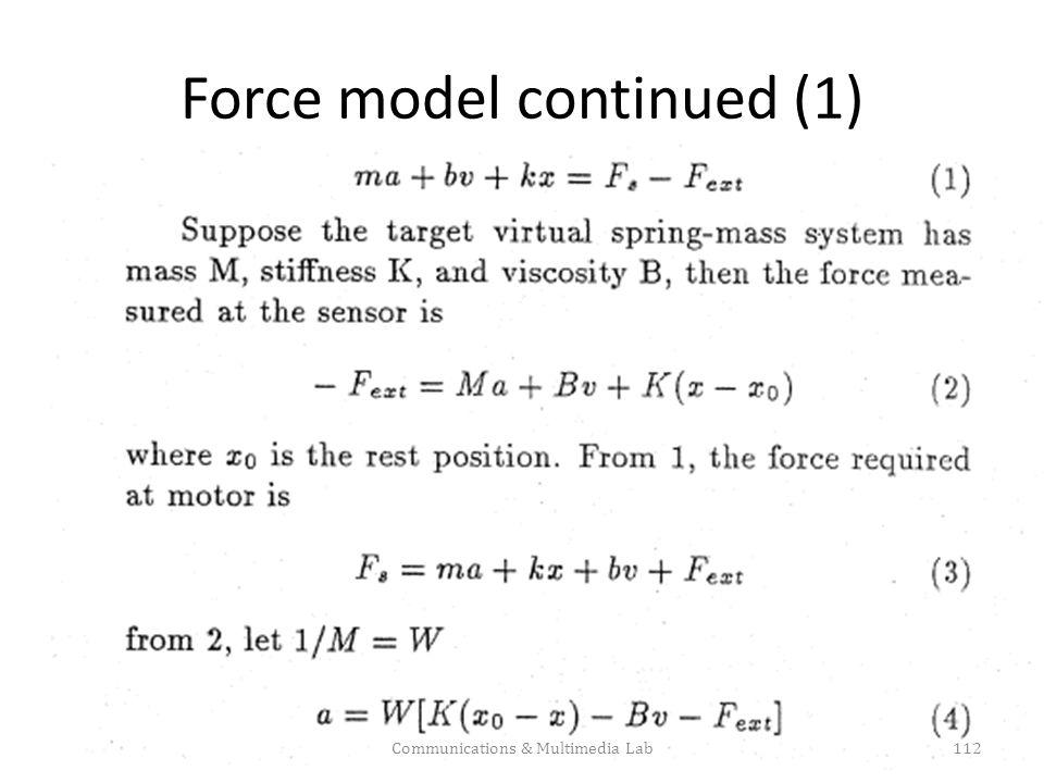 Force model: final Communications & Multimedia Lab113