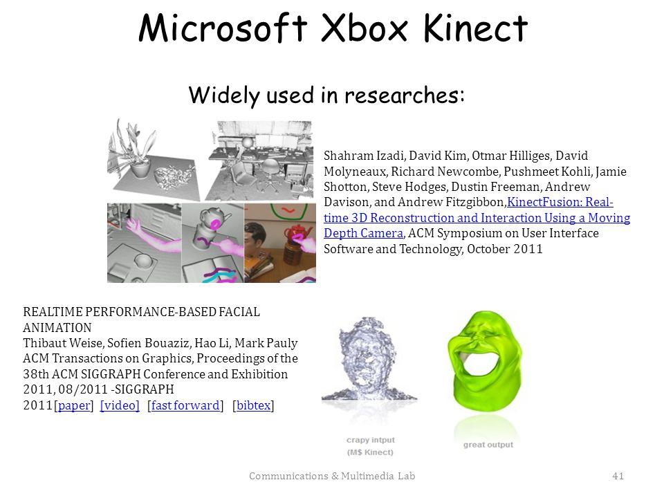 Microsoft Xbox Kinect Communications & Multimedia Lab42