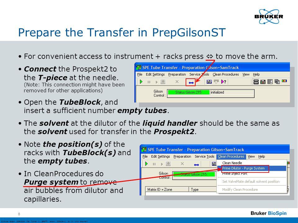 © Bruker BioSpin 2008-2009; File: Tutorial 11 - SPE-TT; Version: 2009-08-11; By: Dr.