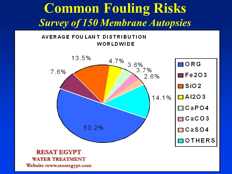 Common Fouling Risks Survey of 150 Membrane Autopsies