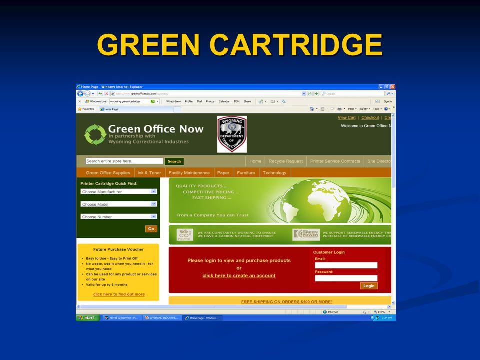 GREEN CARTRIDGE