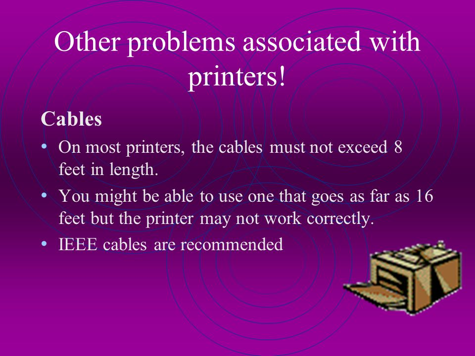 Paper Jams Problem: The printer paper keeps jamming on continuous feed. A: Remove all paper and reset the paper on the tractor feed. Try paper from a