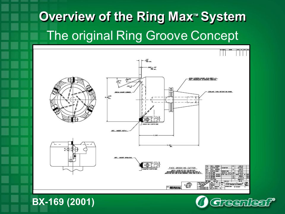 The original Ring Groove Concept BX-169 (2001) Overview of the Ring Max TM System