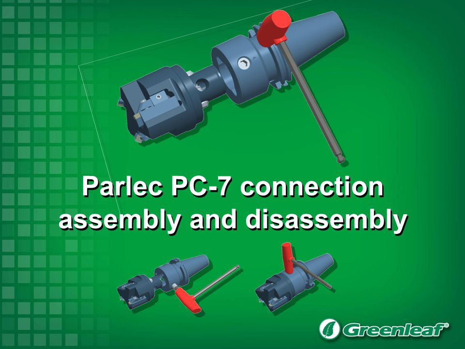 Parlec PC-7 connection assembly and disassembly