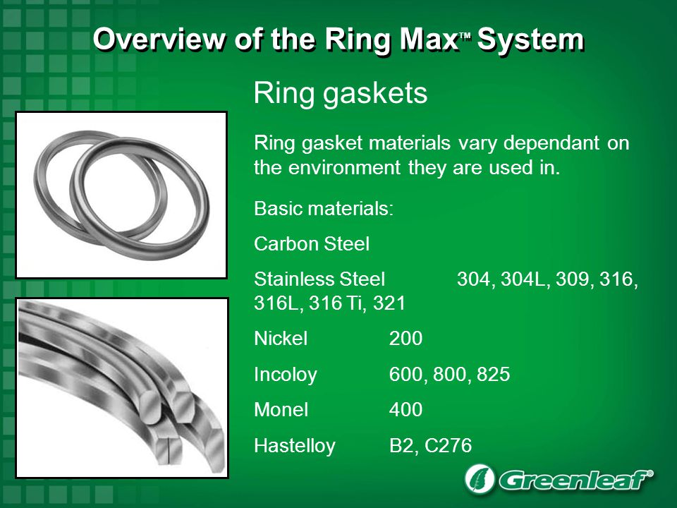 New Ring Max TM Cutting Systems Greenleaf Ring Max 3 –Cutter design and nomenclature –Shank information and nomenclature –Ring Max 3 connection system –Assembly and disassembly –Mounting specifications –Component design and nomenclature Greenleaf ® Ring Max 2 –Cutter design and nomenclature Greenleaf ® STX stick tooling –Holder design and nomenclature