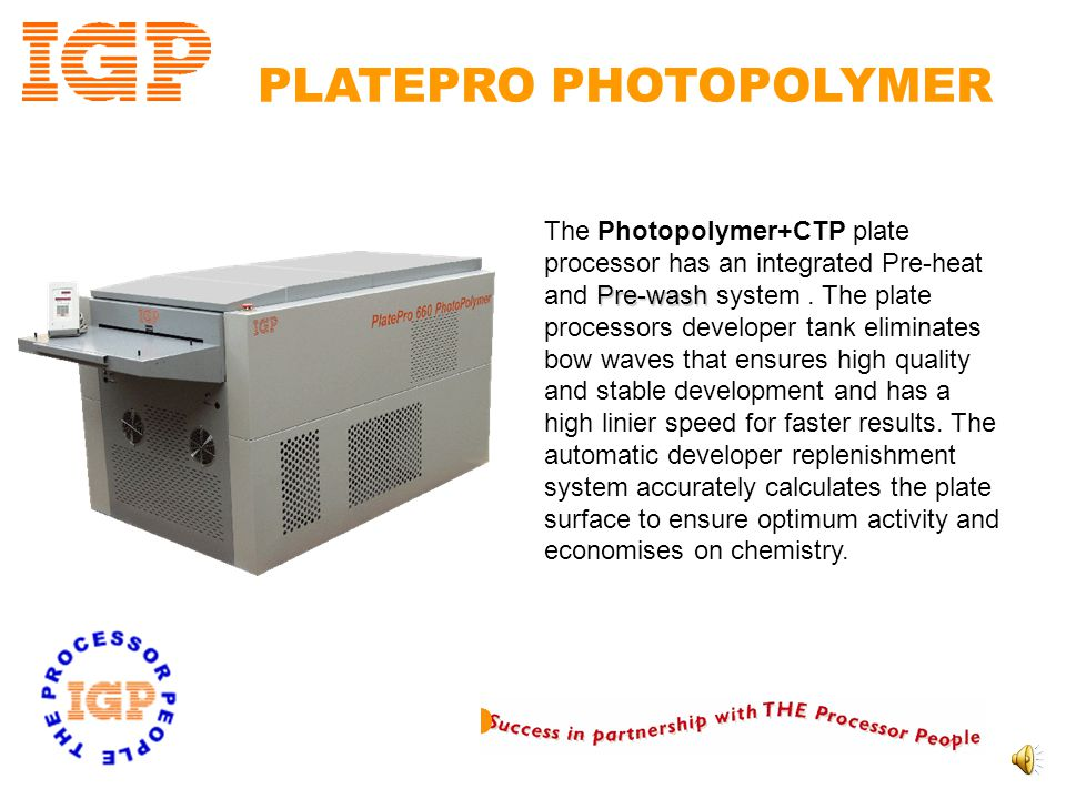 PLATEPRO PHOTOPOLYMER