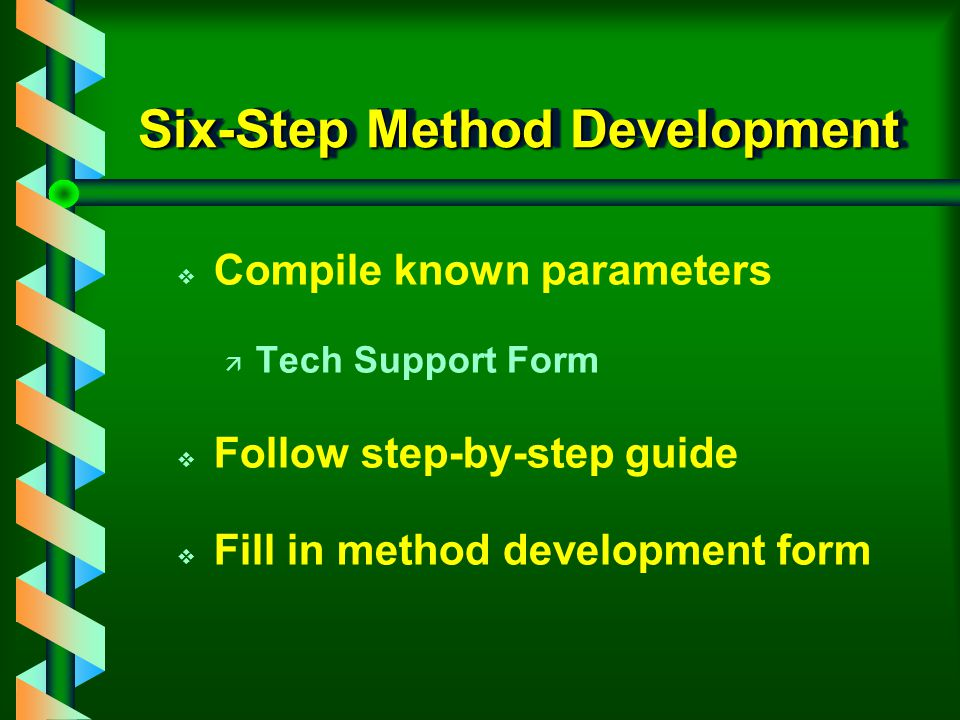 Goal of Six-Step Mode v Isolation v Purification v Trace enrichment