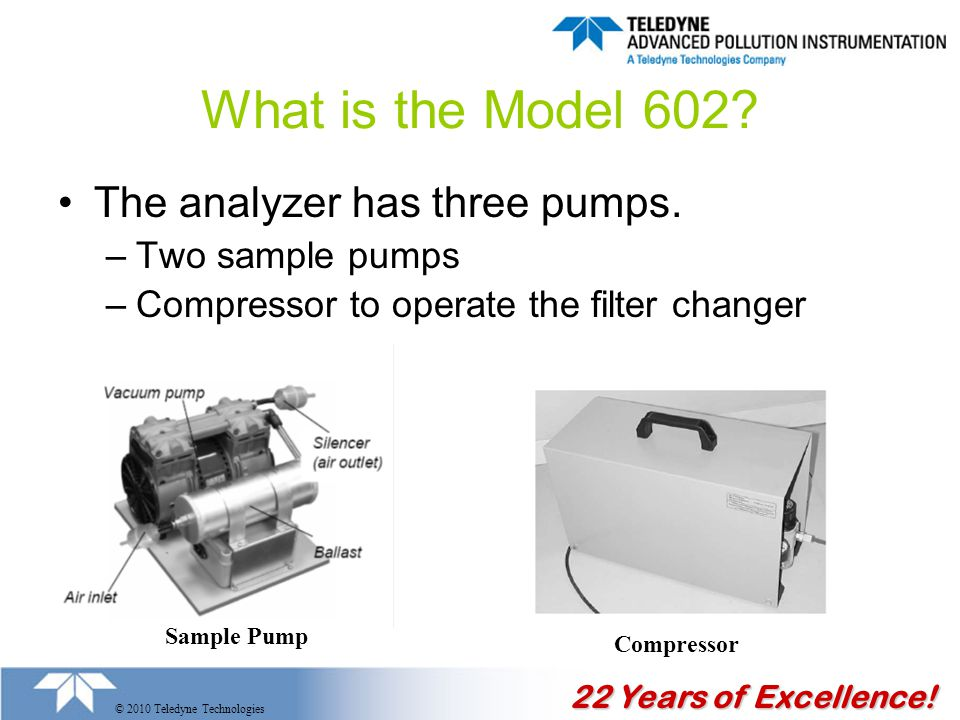 22 Years of Excellence. © 2010 Teledyne Technologies What is the Model 602.
