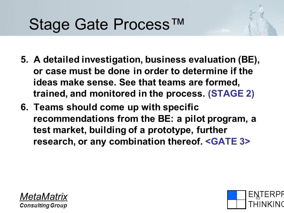 ENTERPRISE THINKING MetaMatrix Consulting Group 69 5.