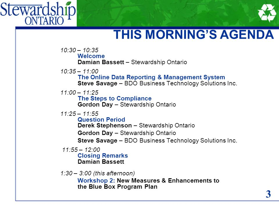 44 Gordon Day Technical Services Stewardship Ontario 44