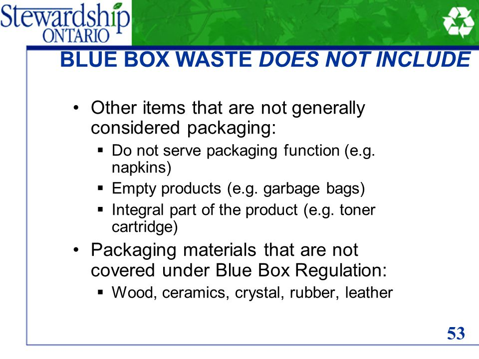 Other items that are not generally considered packaging: Do not serve packaging function (e.g.