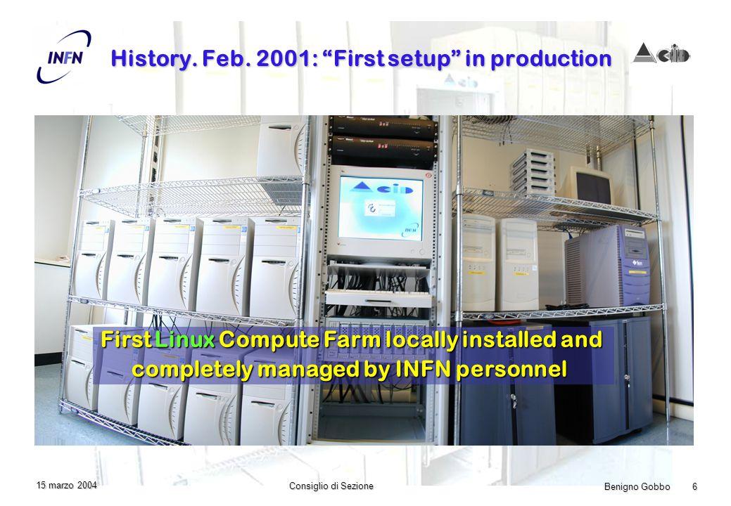 Benigno Gobbo 6 Consiglio di Sezione 15 marzo 2004 History.