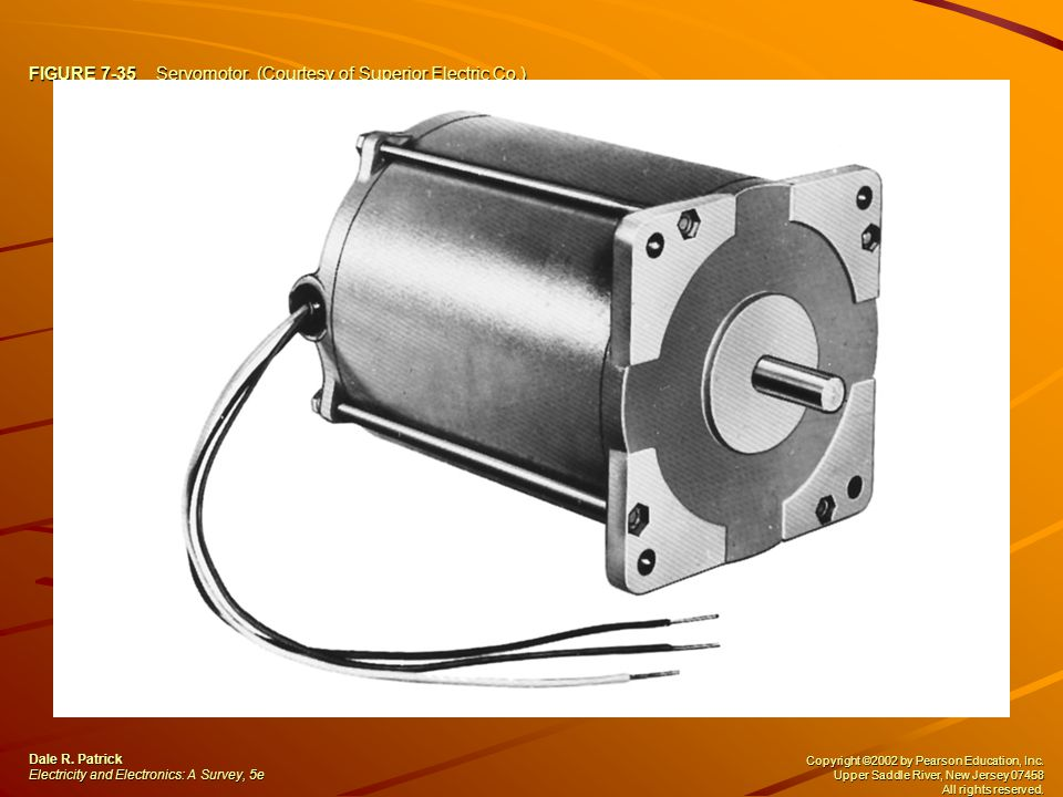 FIGURE 7-35 Servomotor. (Courtesy of Superior Electric Co.) Dale R.