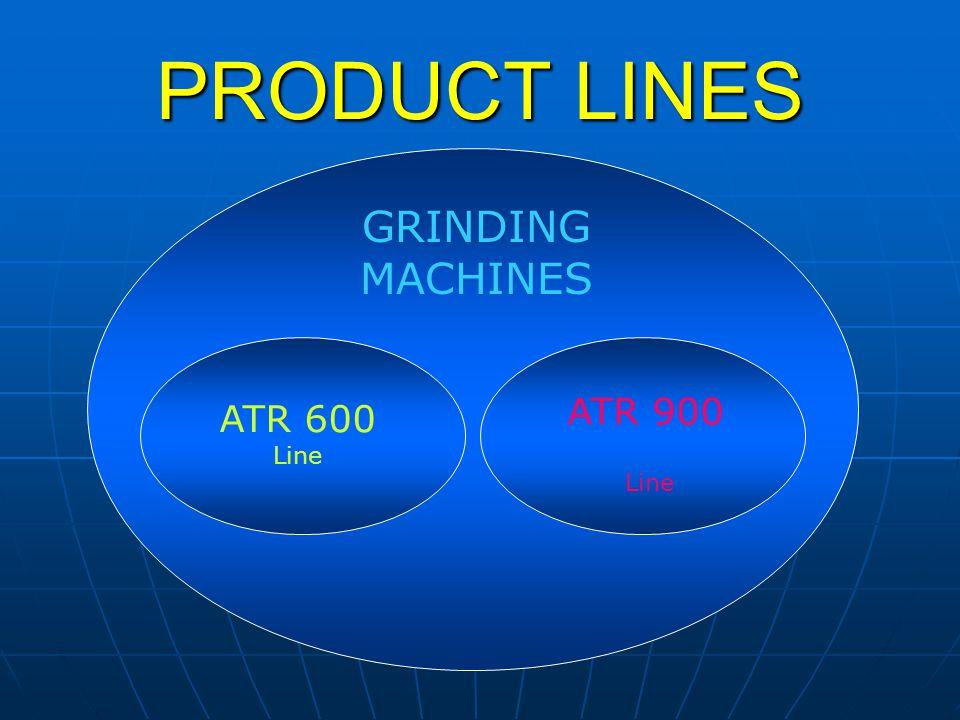 PRODUCT LINES GRINDING MACHINES ATR 600 Line ATR 900 Line