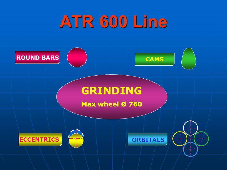 ATR 600 Line ROUND BARS CAMS ECCENTRICS ORBITALS GRINDING Max wheel Ø 760